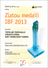Zlatá medaila IBF 2013